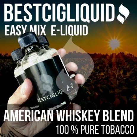 American Whiskey Blend Natural Extracted Tobacco E-liquid (Tennessee, Cavendish, Burley, Virginia)