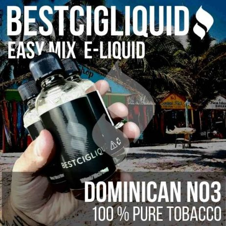 Dominican No3 Natural Extracted Tobacco E-liquid (South American, Leather, Cheddar, Coffee)