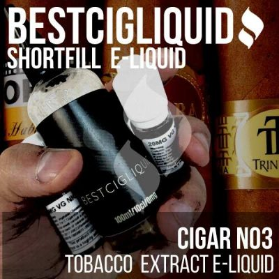 Cigar No3 Natural Extracted Tobacco E-liquid (South American, Leather, Cheddar, Coffee)