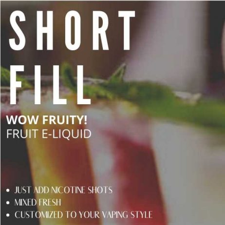 Wow Fruity! Shortfill with Nicotine Shots (Very Cold, Very Fruity)
