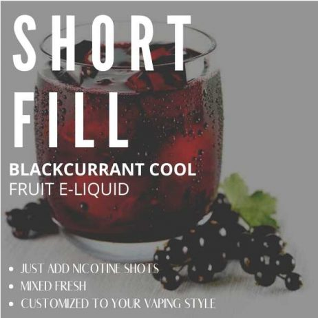 Blackcurrant Cool  Shortfill with Nicotine Shots (Very Cold Blackcurrant)
