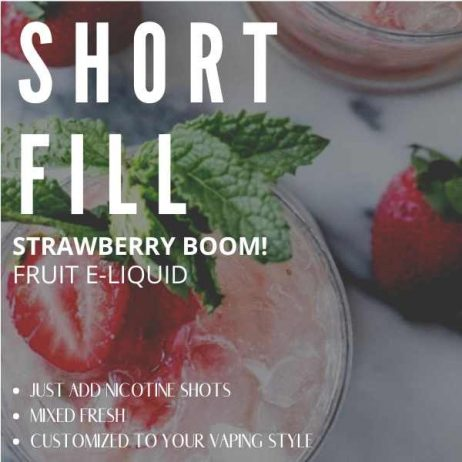 Strawberry BOOM Shortfill with Nicotine Shots (Strawberry, Cold)