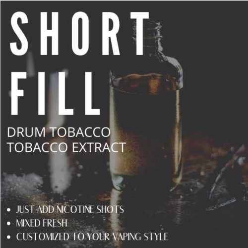 Drum Tobacco  Shortfill with Nicotine Shots