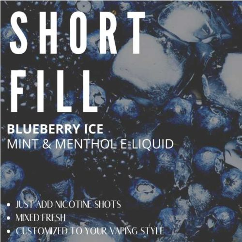 Blueberry Ice  Shortfill with Nicotine Shots