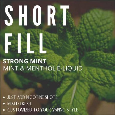 Strong Mint Shortfill with Nicotine Shots (Super Strong Mint)
