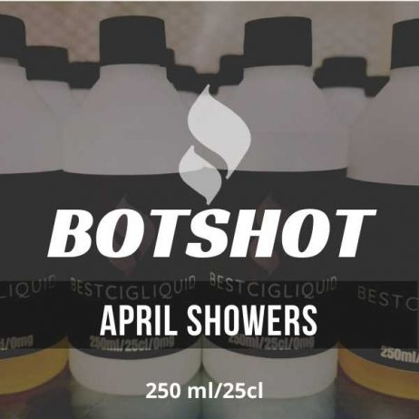 April Showers Bottle Flavour Shot E-liquid (Apricot, Bourbon, Peach, Strawberry)