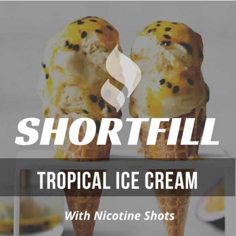 Tropical Ice Cream  Shortfill with Nicotine Shots (Ice Cream, Tropical Fruits)