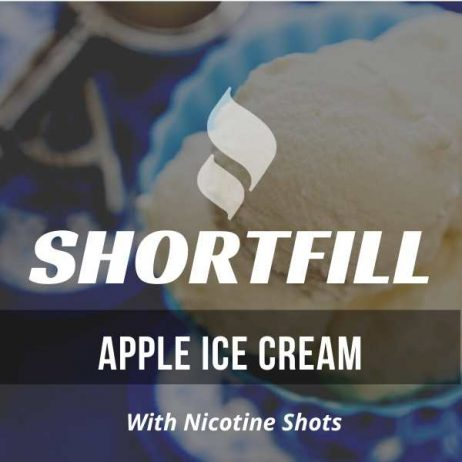 Apple Ice Cream  Shortfill with Nicotine Shots (Ice Cream, Tangy, Apple)