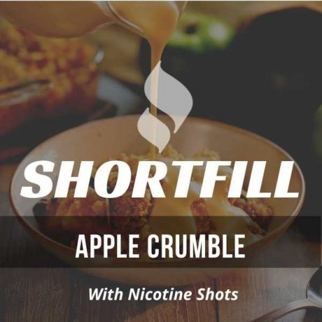 Apple Crumble Shortfill with Nicotine Shots (Apple, Crumble, Custard)