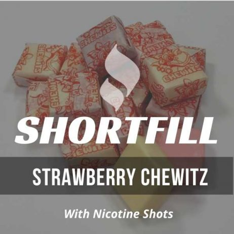 Strawberry Chewitz Shortfill with Nicotine Shots (Creamy, Milk, Chew)