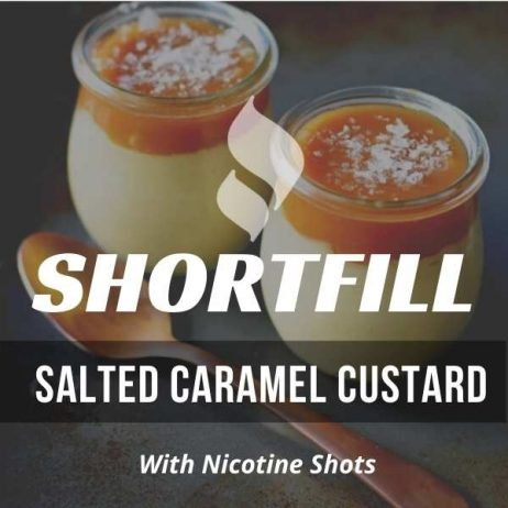 Salted Caramel Custard Shortfill with Nicotine Shots (Salty Caramel, Custard)