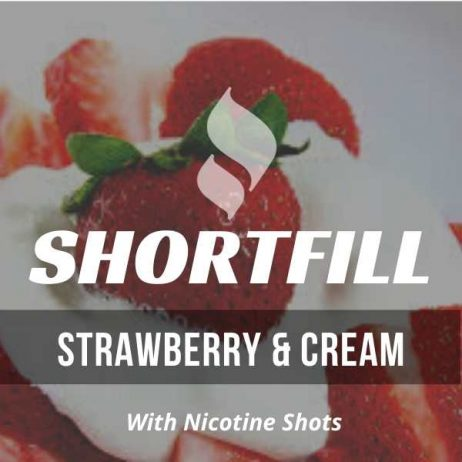 Strawberry & Cream  Shortfill with Nicotine Shots
