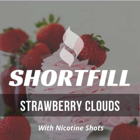 Strawberry Clouds  Shortfill with Nicotine Shots (Mothers Milk)