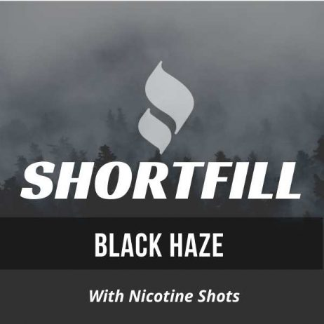 Black Haze Shortfill with Nicotine Shots (Blackcurrant, Lemonade, Mint)