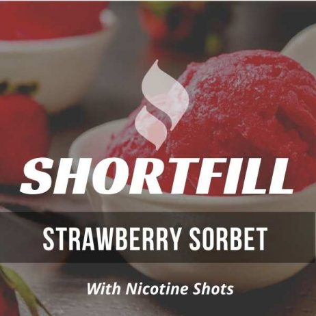 Strawberry Sorbet  Shortfill with Nicotine Shots (Sorbet, Strawberry)