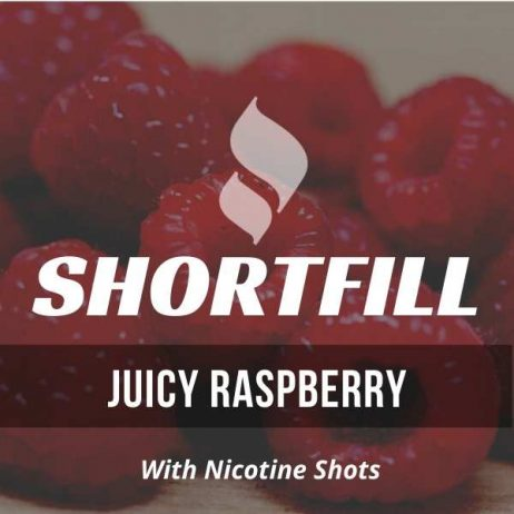 Juicy Raspberry  Shortfill with Nicotine Shots