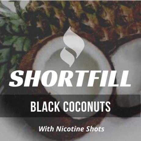 Black Coconuts Shortfill with Nicotine Shots (Pineapple, Coconut, Blackcurrant)