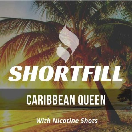 Caribbean Queen Shortfill with Nicotine Shots (Pineapples, Watermelon and Coconut)