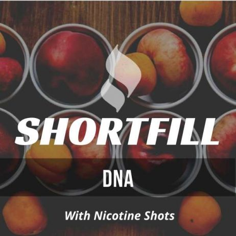 DNA  Shortfill with Nicotine Shots (Apricots, Pear, Nectarine)