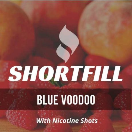 Blue Voodoo  Shortfill with Nicotine Shots (Peach Raspberry, Candy)
