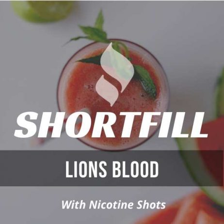 Lions Blood  Shortfill with Nicotine Shots (Strawberry,Watermelon, Coconut)