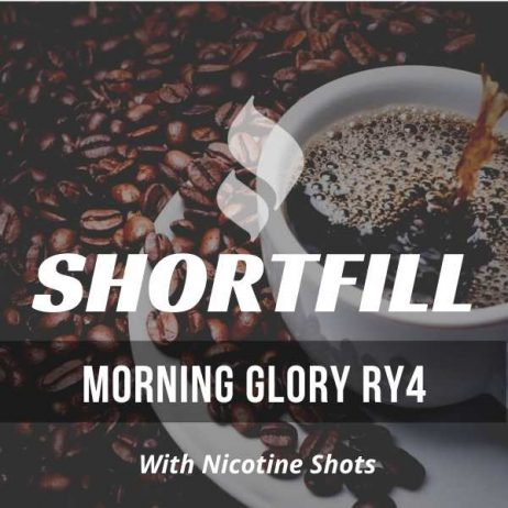 Morning Glory RY4 Tobacco  Shortfill with Nicotine Shots (Caramel, Coffee, Vanilla)