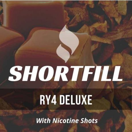RY4 Deluxe Tobacco  Shortfill with Nicotine Shots (Cheesecake, Vanilla, RY4, Caramel)