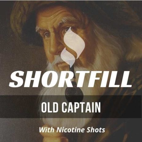 Old Captain Tobacco  Shortfill with Nicotine Shots (Chocolate, Nutty, Rum)