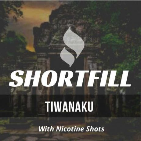 Tiwanaku Tobacco  Shortfill with Nicotine Shots (Caramel, Creamy Vanilla, Hazelnut, Brown Sugar)