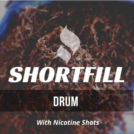 Drum Tobacco  Shortfill with Nicotine Shots (Popular UK Roll Up)