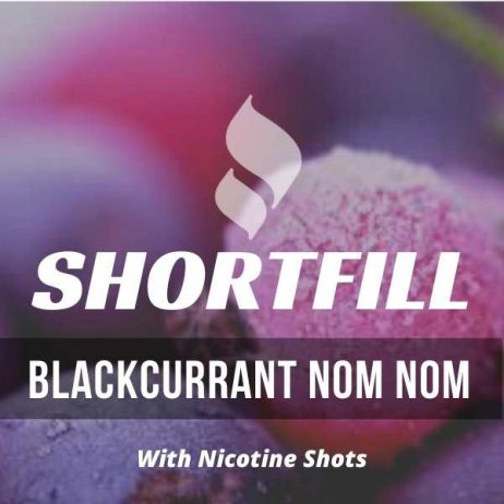 Blackcurrant Nom Nom Shortfill with Nicotine Shots (Blackcurrant, Chill)