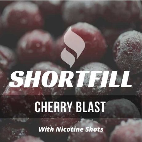 Cherry Blast Shortfill with Nicotine Shots (Cherry, Menthol, Mint)