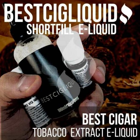 Best Cigar E-liquid Tobacco with Nicotine Shots (Dark, Cuba)