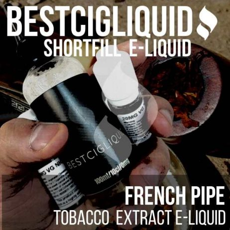 French Pipe Tobacco  Shortfill with Nicotine Shots (Dark, Pipe)