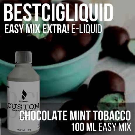 Mint Choc Tobacco E-liquid Easy Mix (Chocolate, Mint)