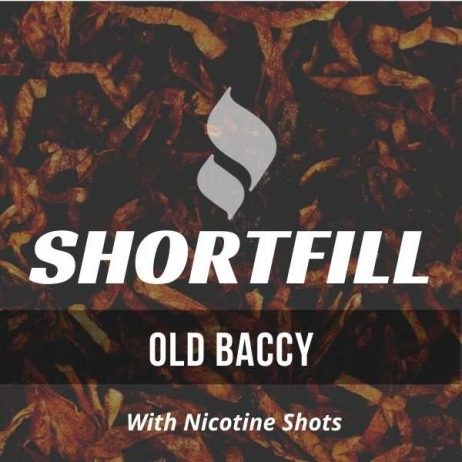 Old Baccy Tobacco Shortfill with Nicotine Shots (Holborn, Virginia, Drum)