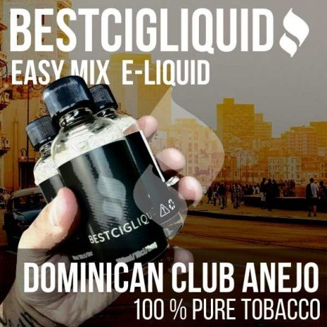 Cigar Club Anejo Natural Extracted Tobacco E-liquid (Strong, Fire Cured, Rum, Dominican)