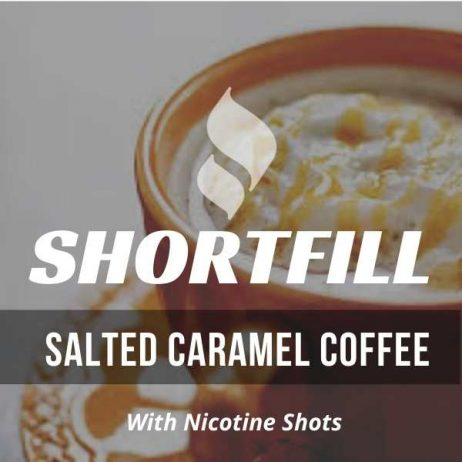 Salted Caramel Coffee Shortfill with Nicotine Shots (Caramel, Salted, Coffee)