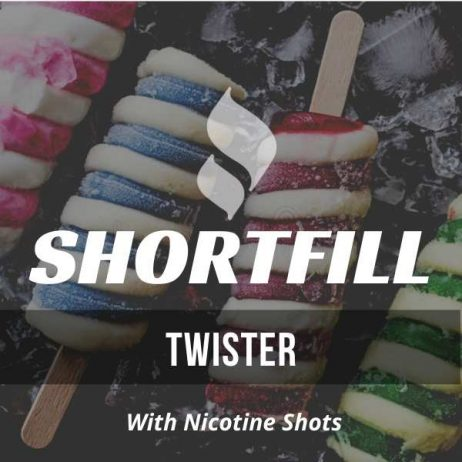 Twister Shortfill with Nicotine Shots (Lime, Strawberry, Ice Cream)