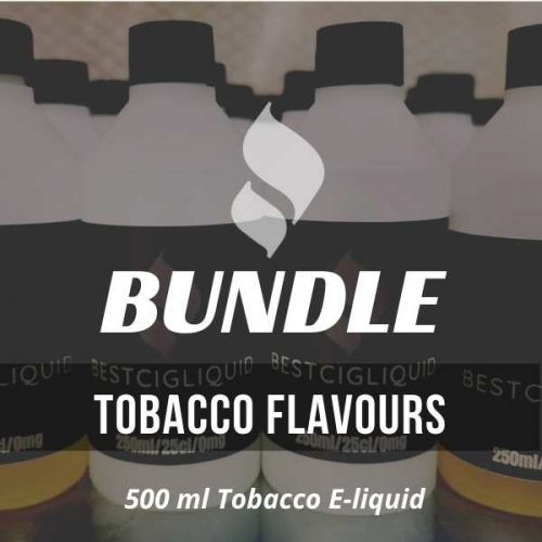 500 ml Tobacco E-liquid 50/50 6 MG Bundle