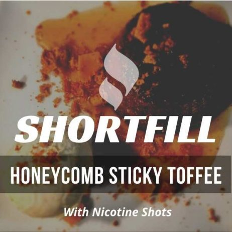 Honeycomb Sticky Toffee Shortfill with Nicotine Shots (Honeycomb, Toffee)