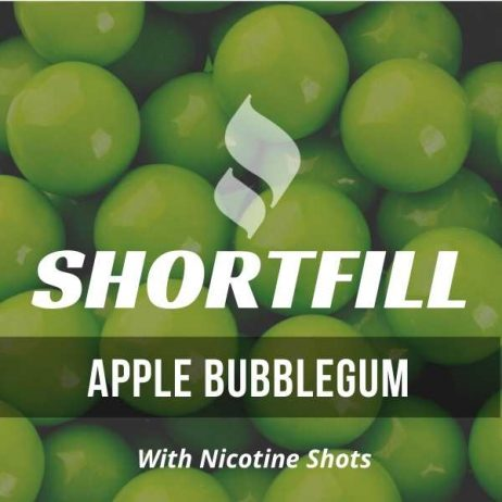 Apple Bubblegum Shortfill with Nicotine Shots (Apple, Bubblegum)