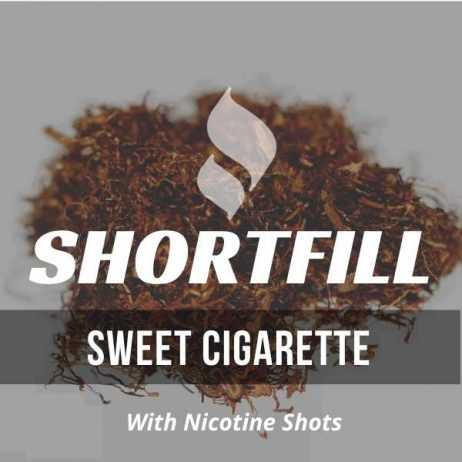 Sweet Cigarette Shortfill with Nicotine Shots (Virginia, Cigarette, Sweet)