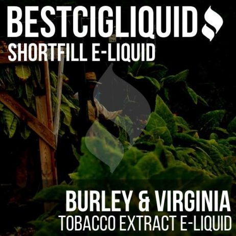 Burley & Virginia Shortfill with Nicotine Shots (Burley, Virginia, Cavendish)