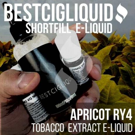 Apricot RY4 Tobacco Shortfill with Nicotine Shots (Virginia, Caramel, Vanilla, Apricot)