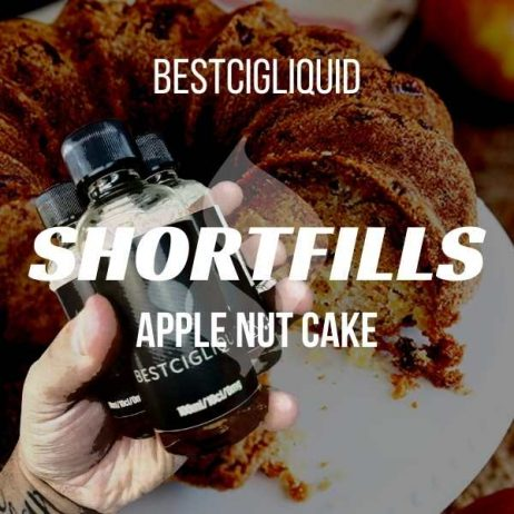 Apple Nut Cake Shortfill with Nicotine Shots (Nutty, Apple, Coconut, Cake)
