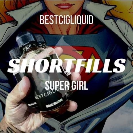 Super Girl Shortfill with Nicotine Shots (Vanilla, Lemon, Black Cherry, Blueberry, Cold)