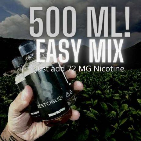 NEW! 5 x 100 ml Easy Mix Cheapest E-liquid deal just add Nicotine