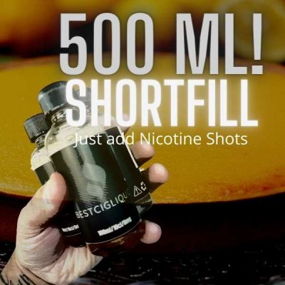 5 x 100 ml Shortfill Cheapest E-liquid deal with Nicotine Shots