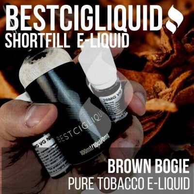 JUST ADDED! Brown Bogie Natural Extracted Tobacco E-liquid (Maple, Virginia, Sun Cured)